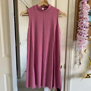 Forever 21 Pink Mock Neck Dress S